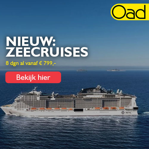 8-daagse zeecruise door Scandinavië al vanaf €799,- bij Oad reizen.