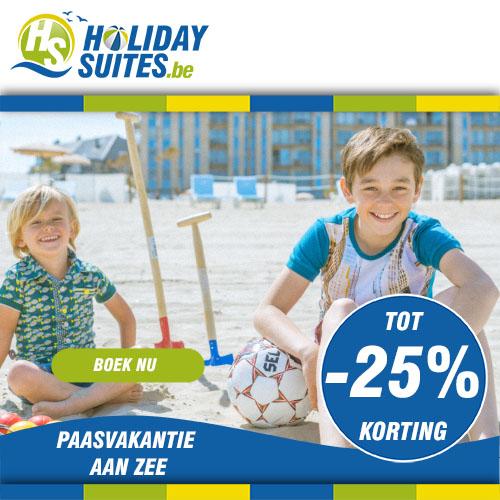 Geniet van een korting tot 25% op een verblijf bij Holiday Suites tijdens jouw paasvakantie.
