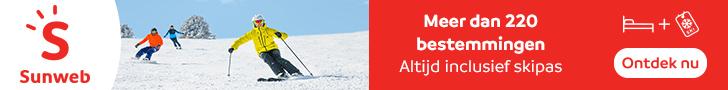 Sunweb aanbiedingen wintersportreizen in 2019