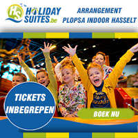 Overnacht in onze comfortabele vakantieverblijven in Houthalen-Helchteren en krijg gratis tickets voor Plopsa Indoor Hasselt voor het hele gezin.