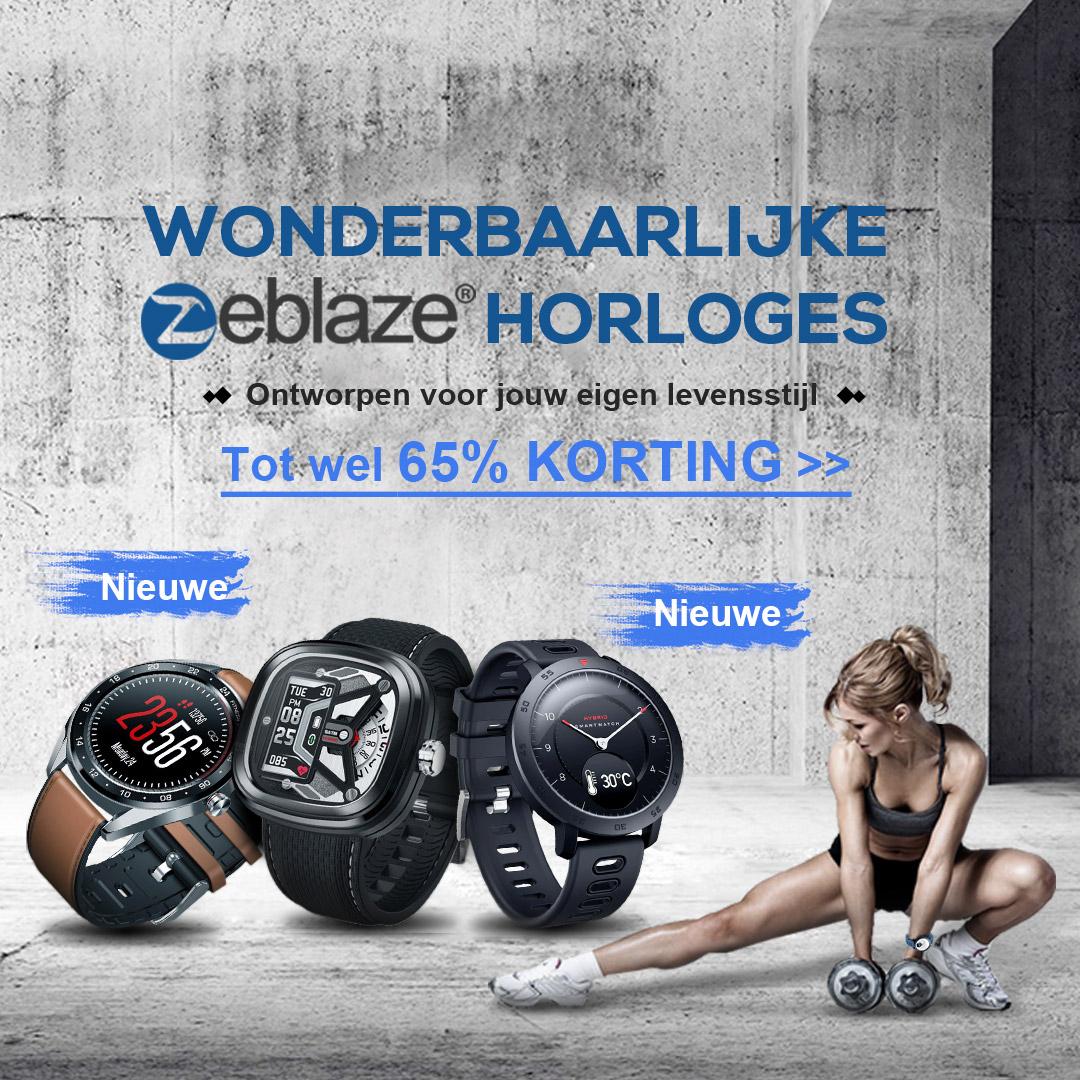 Wonderbaarlijke Zeblaze horloges  tot wel 65% korting