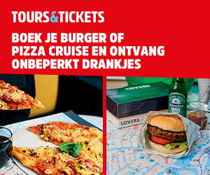 Tours & Tickets Boek je Burger of Pizza Cruise en Ontvang Onbeperkt Drankjes
