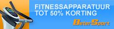 Betersport - Fitnessapparatuur tot 50% korting