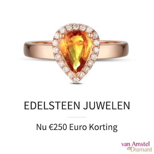Nu €250 korting op edelsteen juwelen.