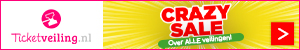 CRAZY SALE op Ticketveiling.nl!