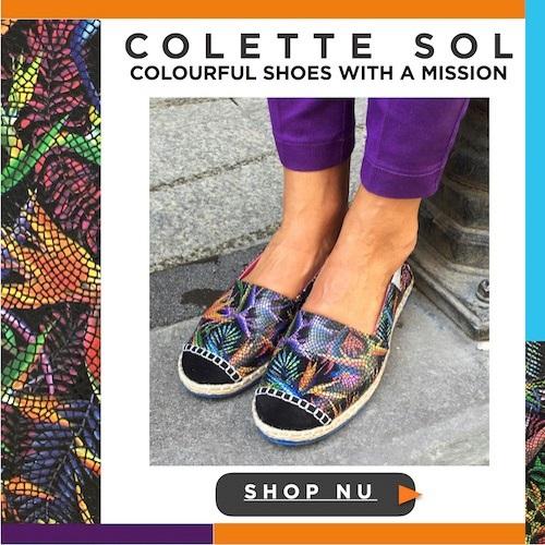 Colette Sol, Schoenen met een missie