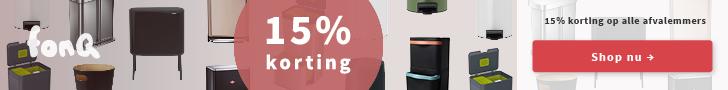 15% extra korting op alle Afvalemmers