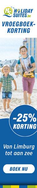 Vroegboekkorting Holidaysuites, van Limburg tot aan zee