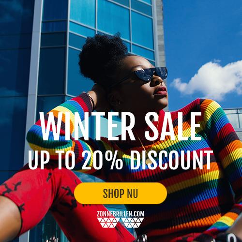 Een zonnebril, nog niet echt nodig, maar wel extra goedkoop! 20% korting tijdens de wintersale!