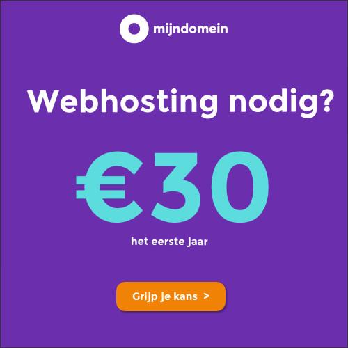 50% korting op het Webhosting pakket