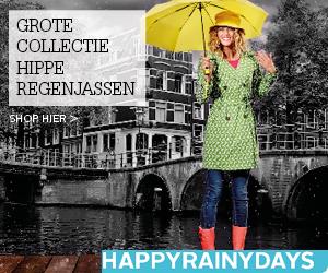 Droog blijven op een regendag. Grote collectie hippe regenjassen.
