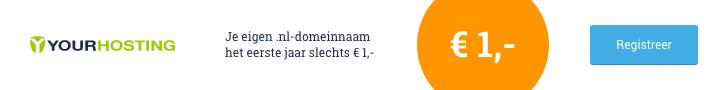 Registreer nu een .nl-domeinnaam voor € 4,-