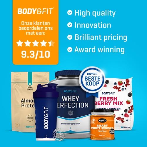 Body & Fit banner voor 50% korting