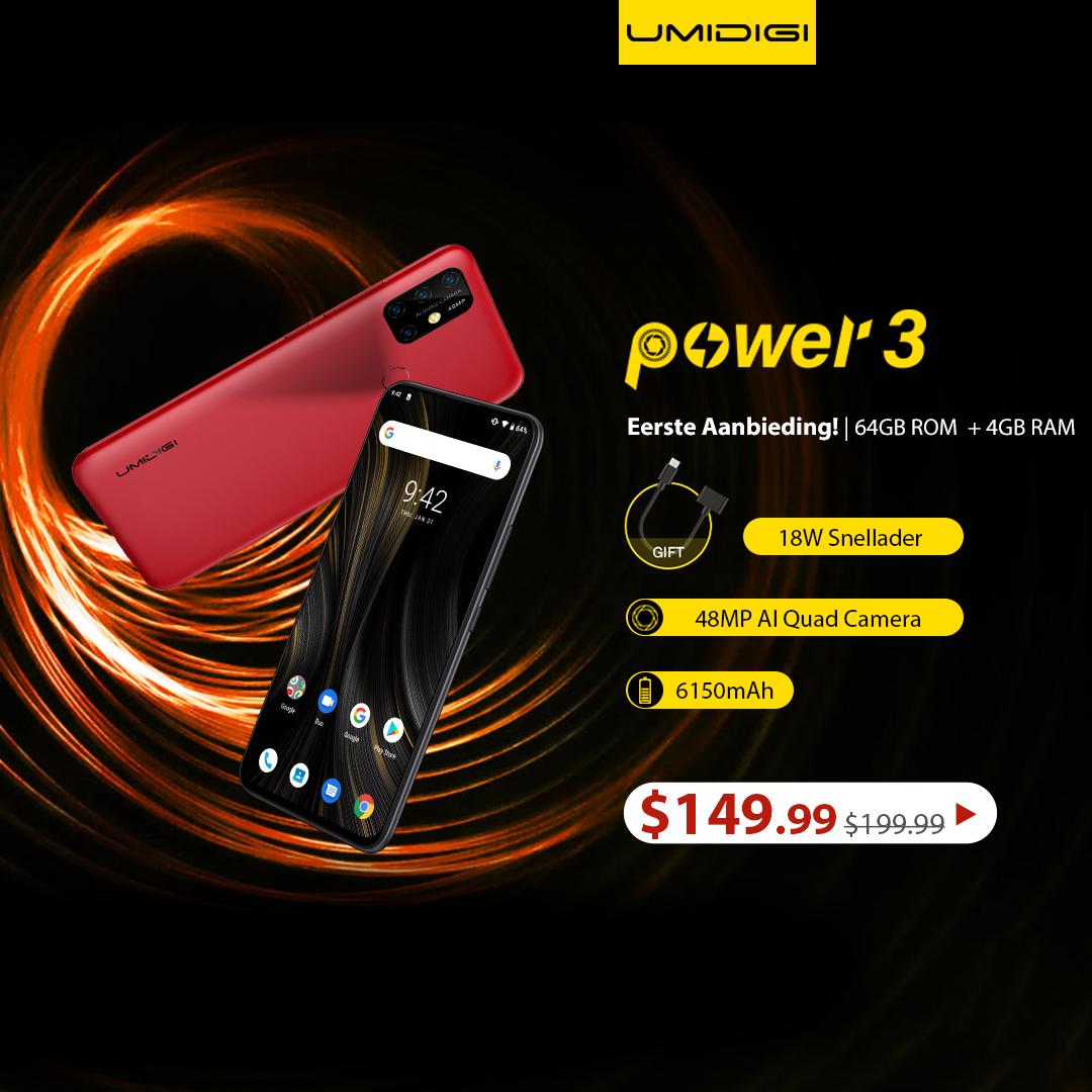 UMIDIGI Power 3 Smartphone First Offer $149.99