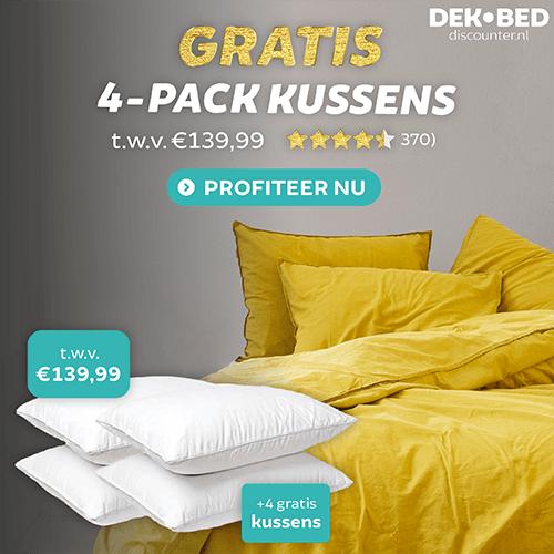 Dekbed-discounter.nl – 4-Pack kussens t.w.v. € 139,99