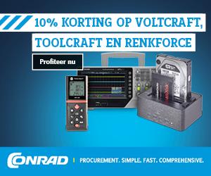 10% korting op Voltcraft, Toolcraft en Renkforce