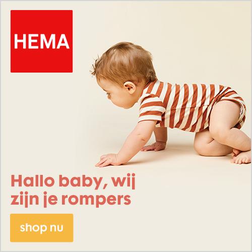 Bijna alle kinderkleding 20% korting bij de HEMA