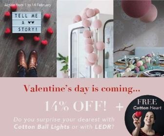 Klik hier voor de korting bij Cottonballlights.com