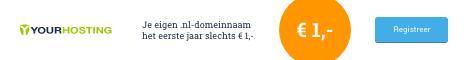 Registreer nu een .nl-domeinnaam voor � 1,-