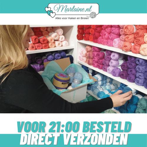 Voor 21u besteld, direct verzonden. | Marlaine.nl