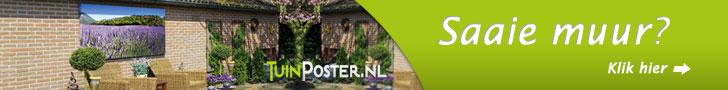 De oplossing voor die kale muur of schutting. www.tuinposter.nl