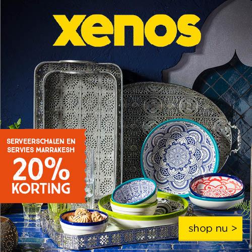 serveerschalen en servies marrakesh 20% korting bij Xenos