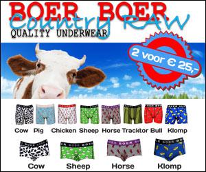 Boer Boer Boxershorts 2 voor € 25,- paard boxer hipster koe schaap klomp