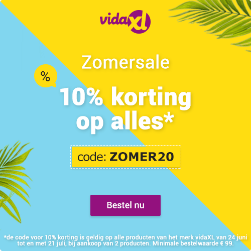 Vidaxl.nl – 10% Zomerkorting op alle VidaXL merkproducten