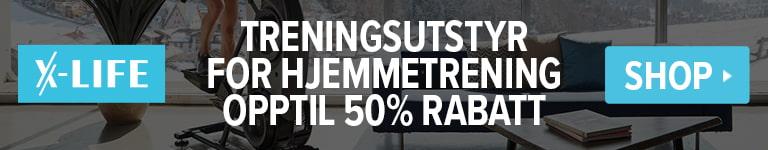 TRENINGSUTSTYR FOR HJEMMETRENING - OPPTIL 50% RABATT!