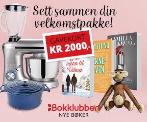 Bokklubben Nye Bøker - 2 bøker + Radio retro DAB+