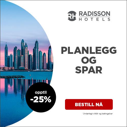Radisson Hotels har ny rabattkode Koden gir opptil 25 % rabatt.