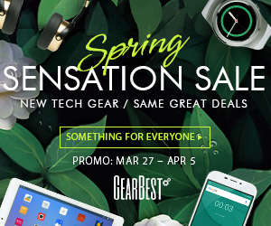 Thank you for being awesome! We have prepared fresh flash deals, come gearbest.com and enjoy multiple offers!